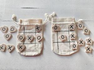 Handmade Tic Tac Toe Travel Game Kid's Stocking Stuffer