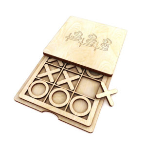 Handmade Tic Tac Toe Travel Game Kid's Stocking Stuffer